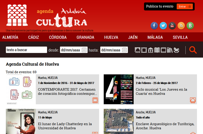 Agenda Cultura Huelva. What to do in Huelva