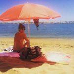 Kedaro Teacher on the beach, Huelva