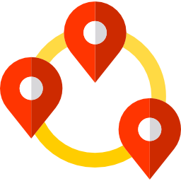 Icon locations for nearby trips